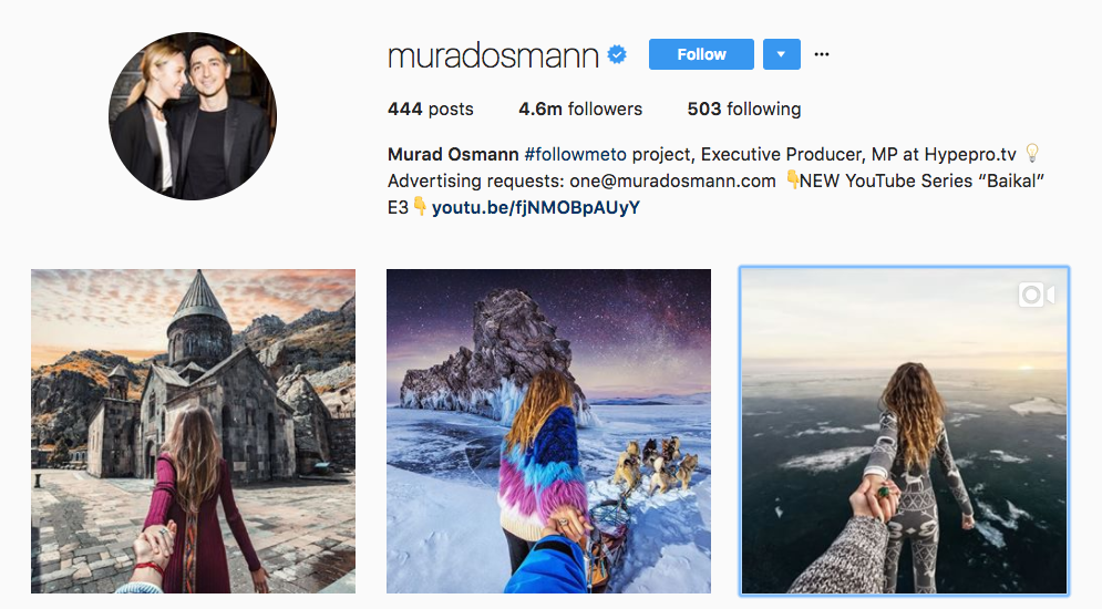 Murad Osmann Top Photography Influencer