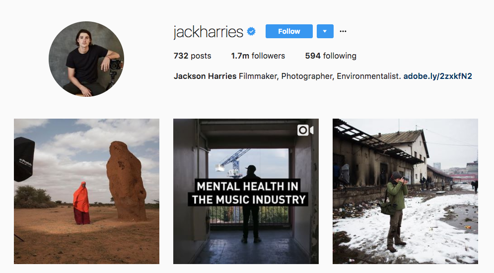 Jackson Harries Photography Influencer