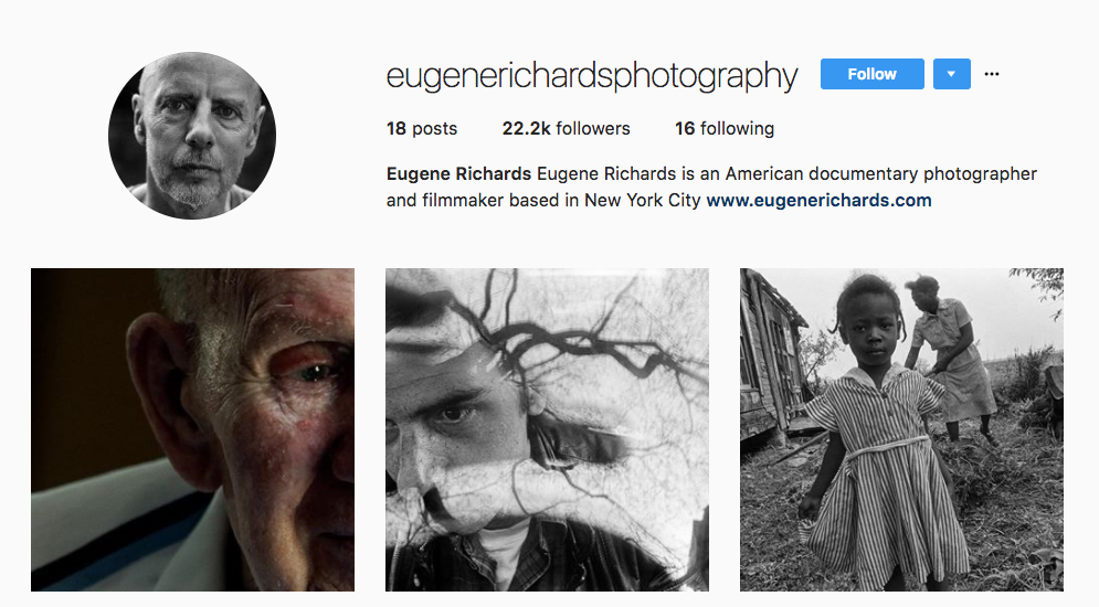 Eugene Richards Photography Influencer