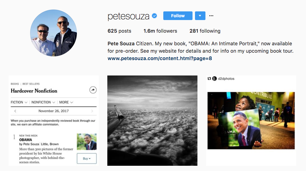 Pete Souza Photography Influencer