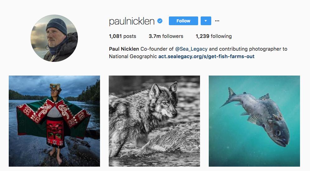 Paul Nicklen Top Photography Influencer