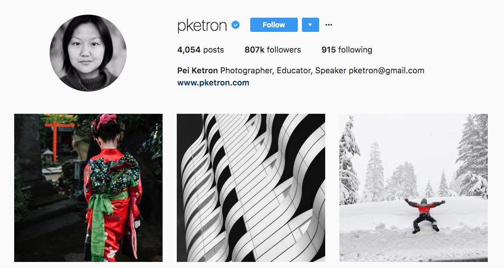 Pei Ketron Top Photography Influencer