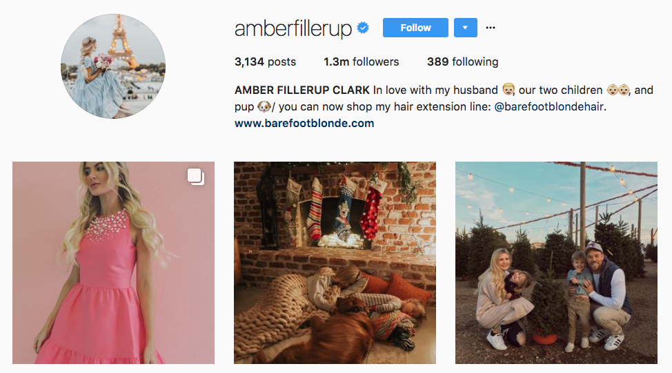 Amber Fillerup Clark Top Parenting Influencer