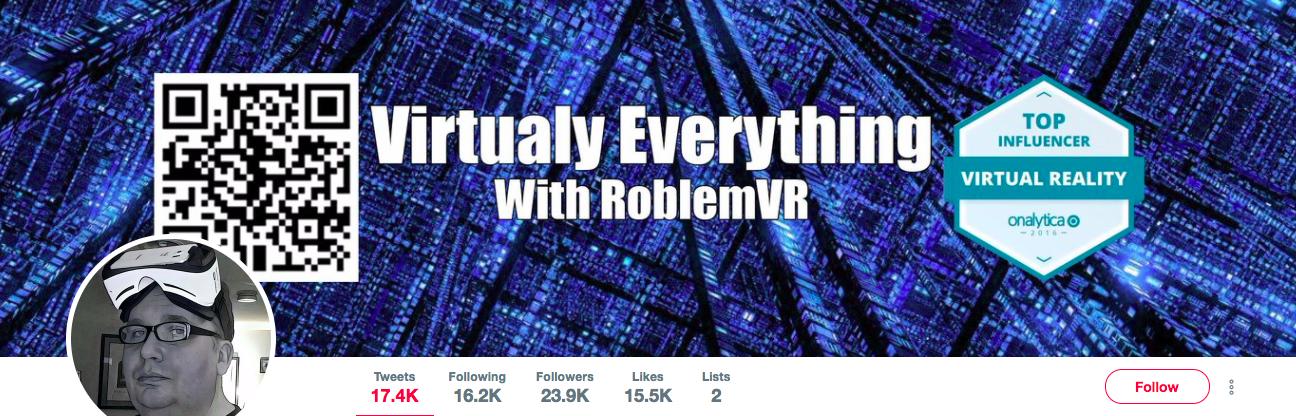 Rob Crasco Top VR Influencer
