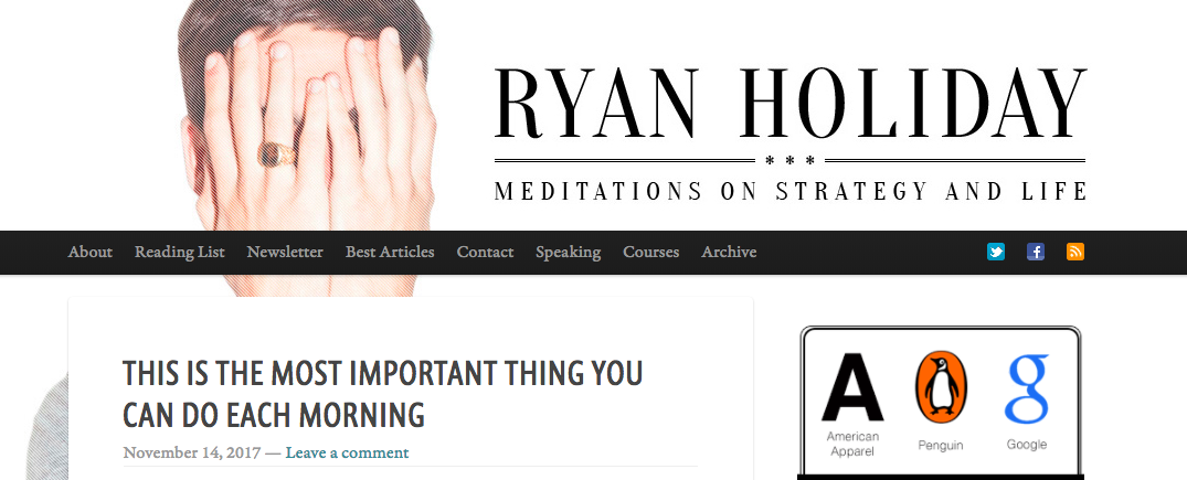 Ryan Holiday Top Blog Content Writer