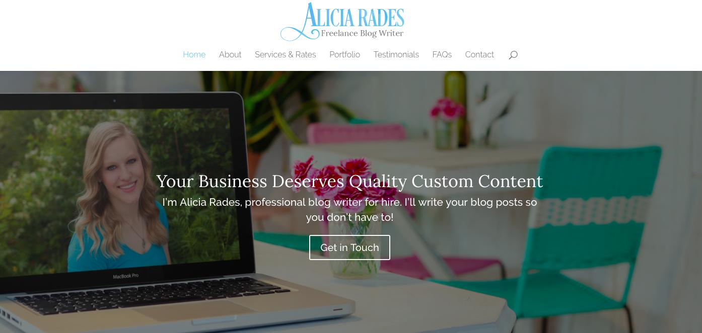 Alicia Rades Top Blog Content Writer