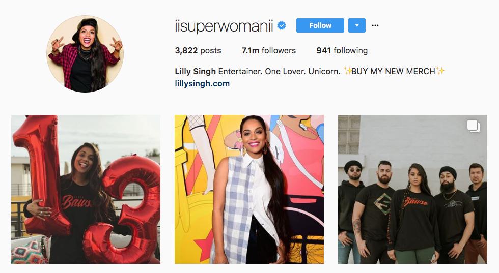 Lilly Singh Top Millennial Influencer