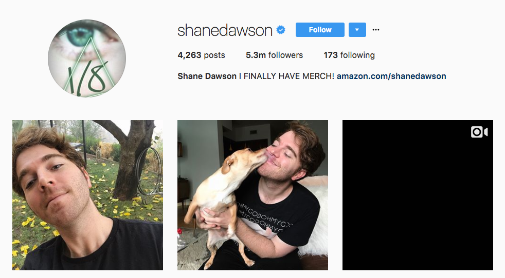 Shane Dawson Top Millennial Influencer