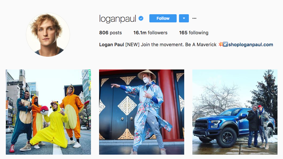 Logan Paul Top Millennial Influencer