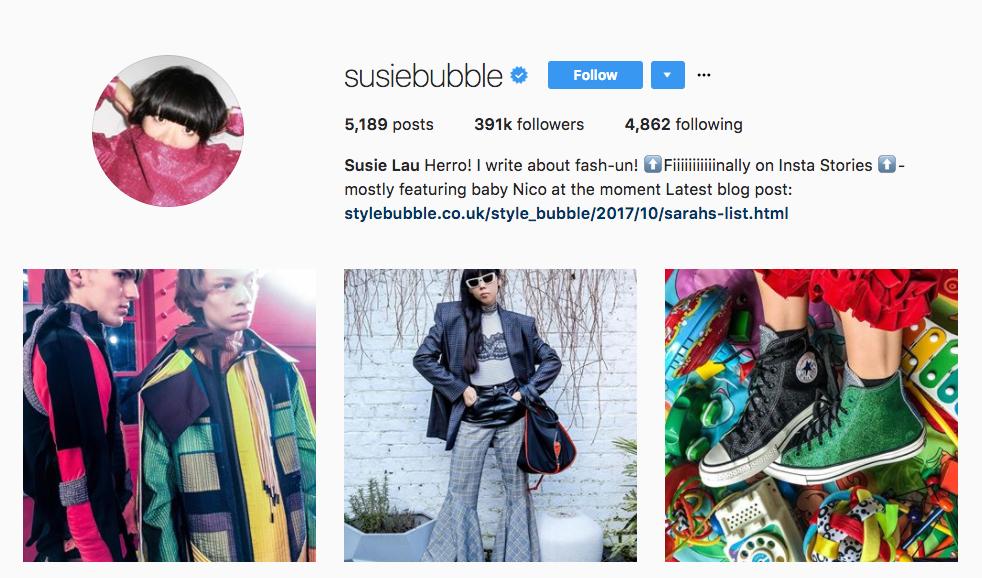 Susie Lau top millennial influencer