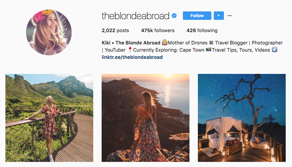 The Blonde Abroad Top Millennial Influencer