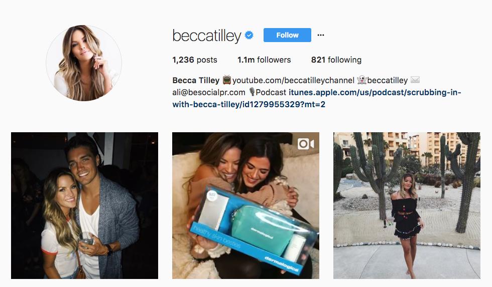 Becca Tilley Top Ecommerce Influencer