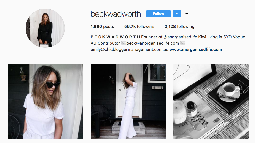 Beck Wadworth Top Ecommerce Influencer