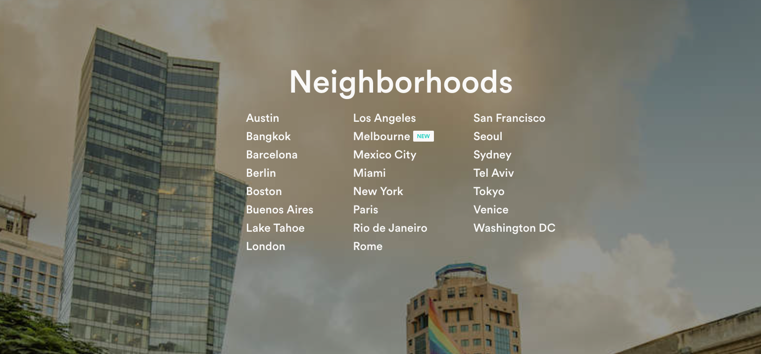 Inspiring Content Marketing AirBnB