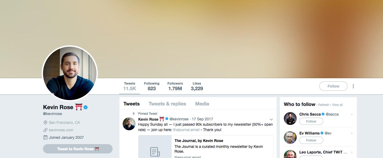 Kevin Rose Top Startup Influencer