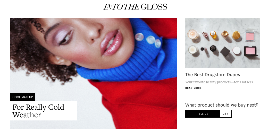 Glossier Startup Content Marketing