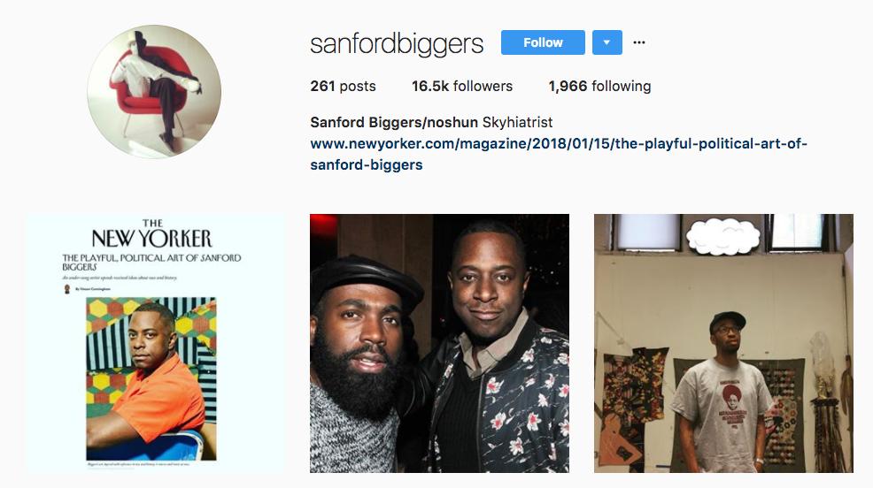 Sanford Biggers top art influencer