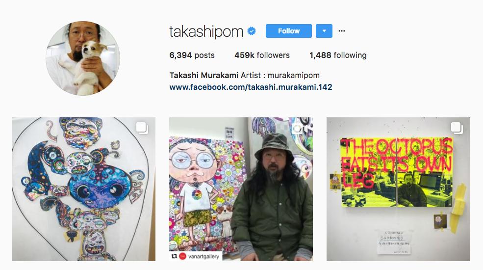 Takashi Murakami top art influencer