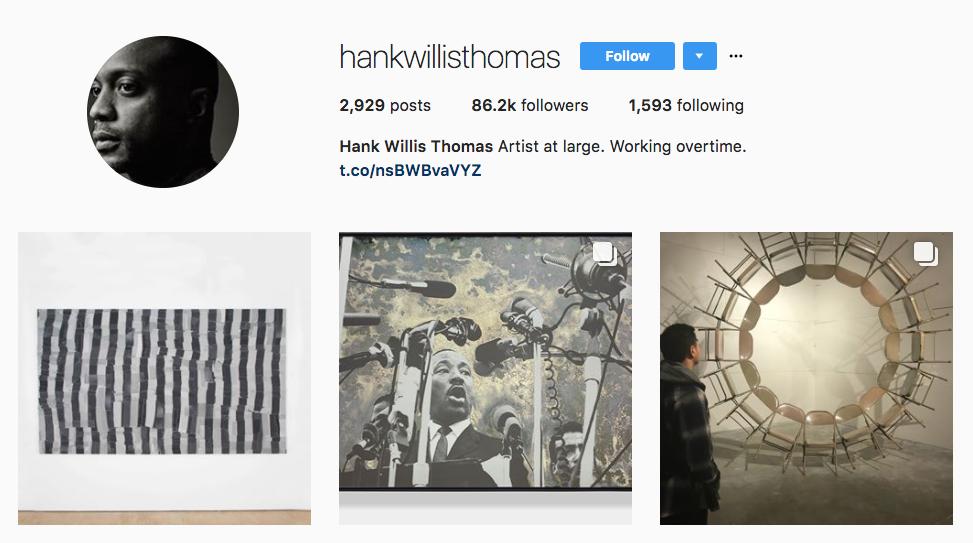 Hank Willis Thomas top art influencer
