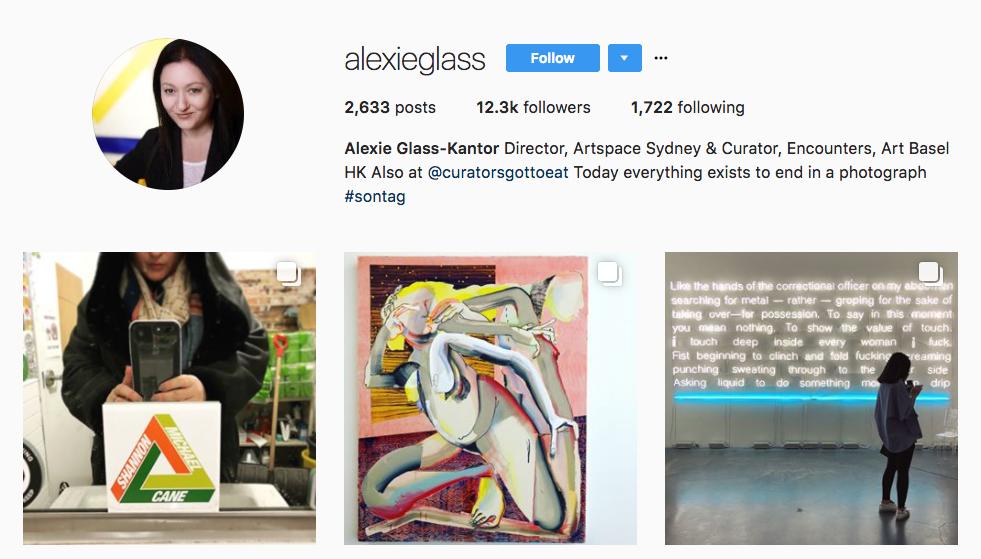 Alexie Glass-Kantor Top Art Influencer