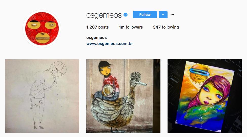 Os Gemeos Top Art Influencer