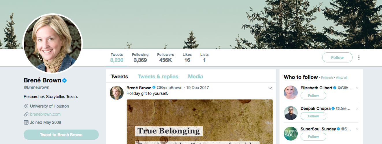 Brene Brown top startup influencer