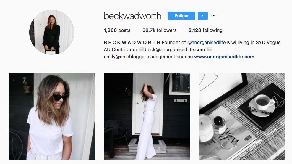 Beck Wadworth Top Ecommerce Influencer