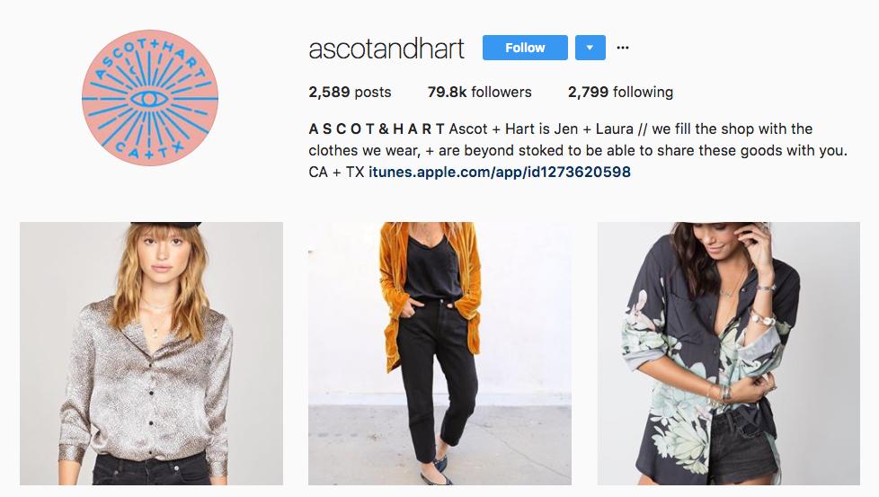 Ascot & Hart Top Ecommerce Influencers