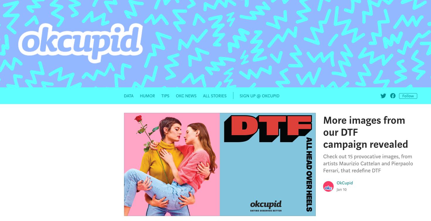 OkCupid Approach B2C Content Marketing