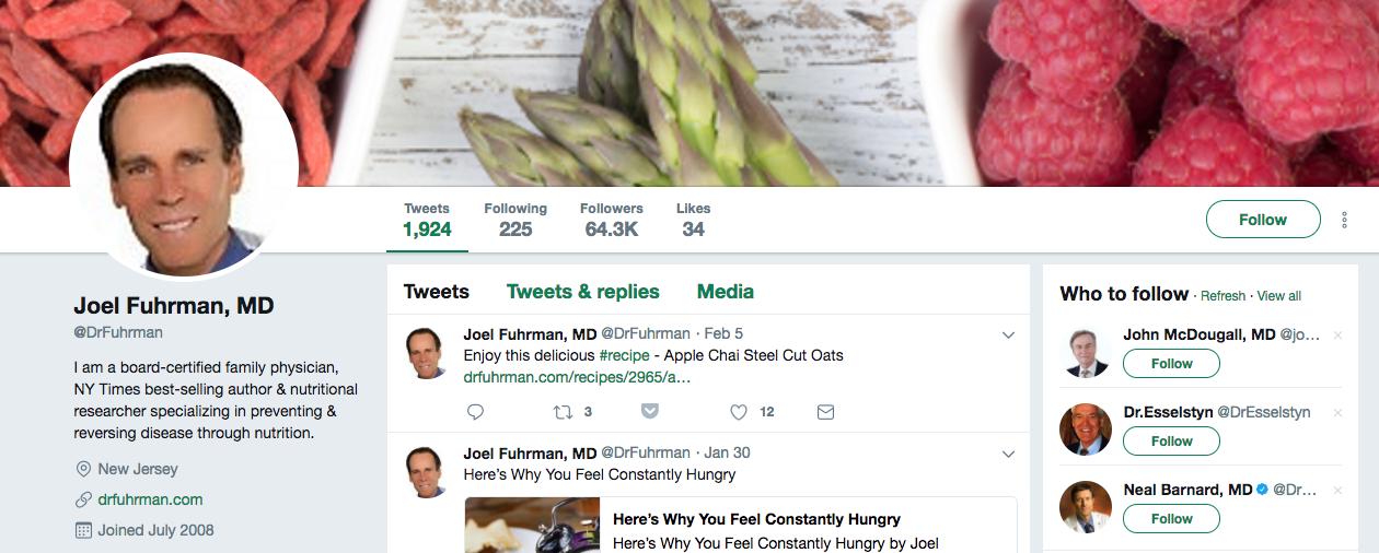 Joel Fuhrman Top Healthcare Influencer