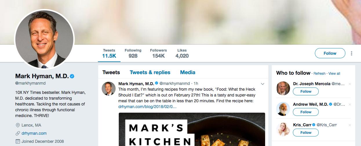 Mark Hyman top healthcare influencer