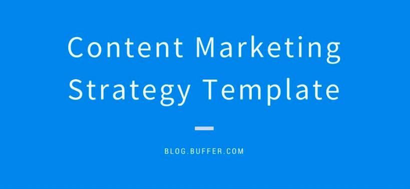 Buffer Content Marketing Plan Example