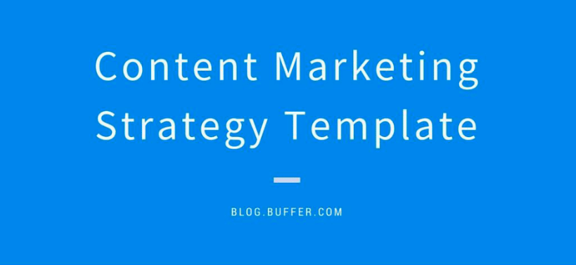 Buffer Content Marketing Plan Example