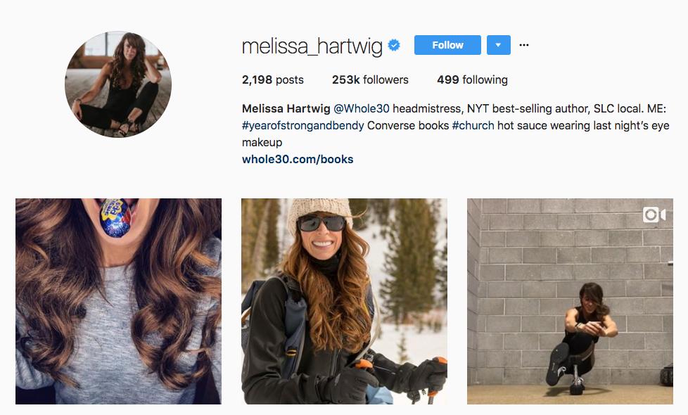 Melissa Hartwig top healthcare influencer