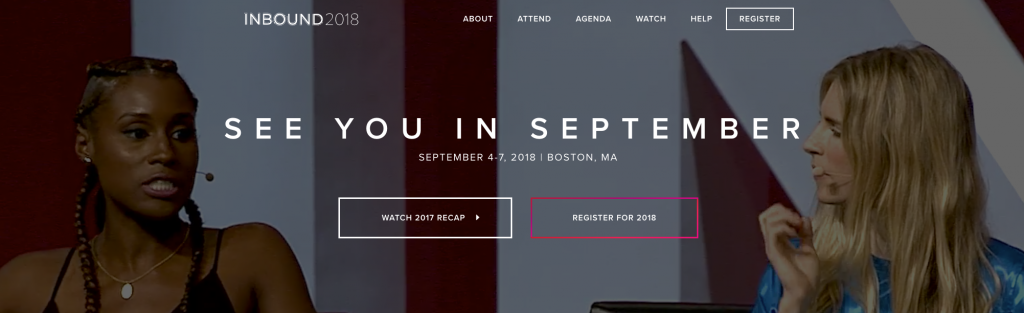 Inbound top 2018 content marketing events