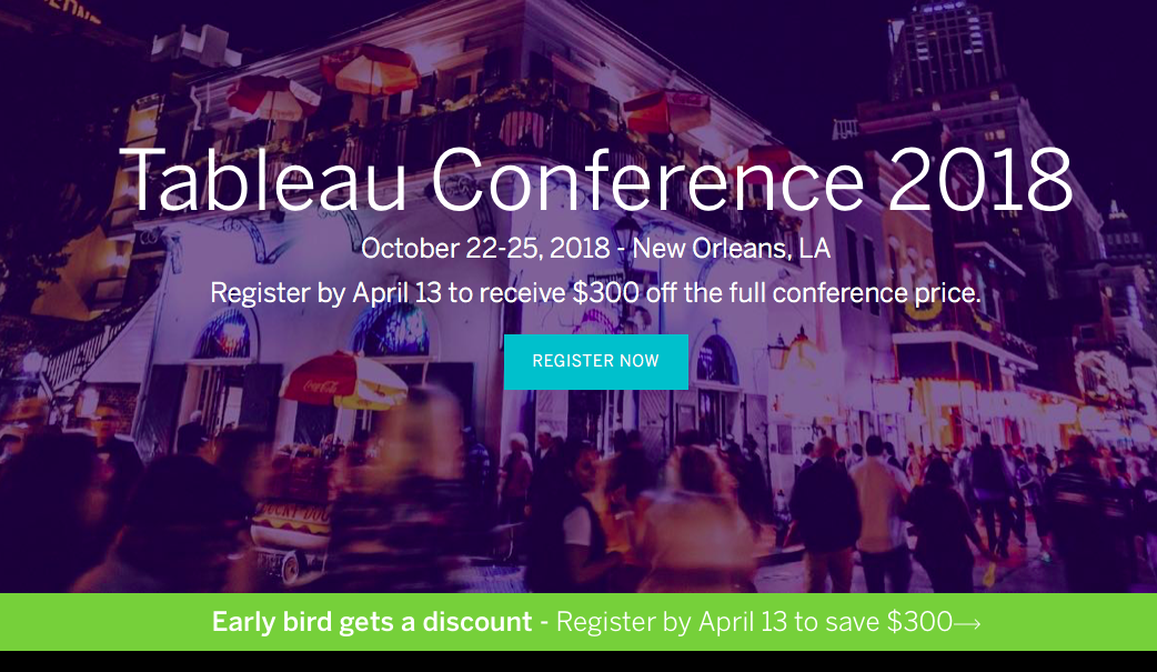 Tableau Conference Live 2018 marketing conference