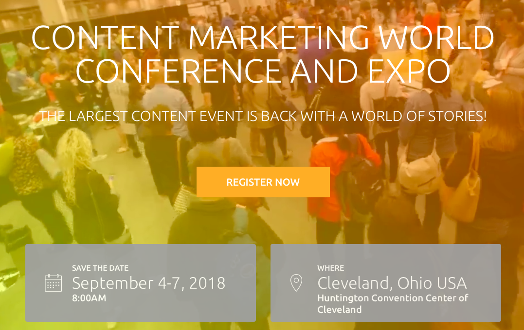 Content Marketing World 2018 Marketing Conference