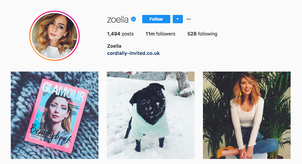 zoella best influencers 2017