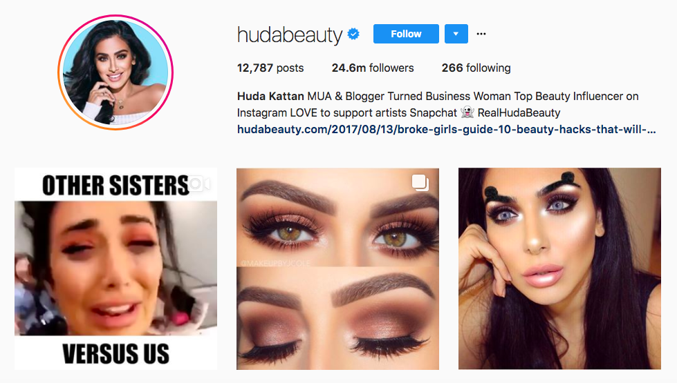 Huda Kattan best influencers 2017