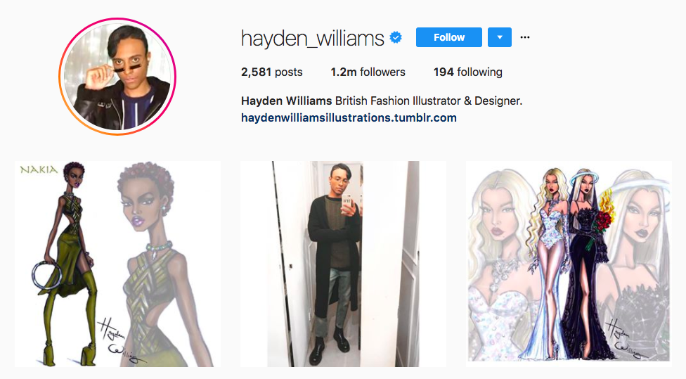 Hayden Williams best influencers 2017