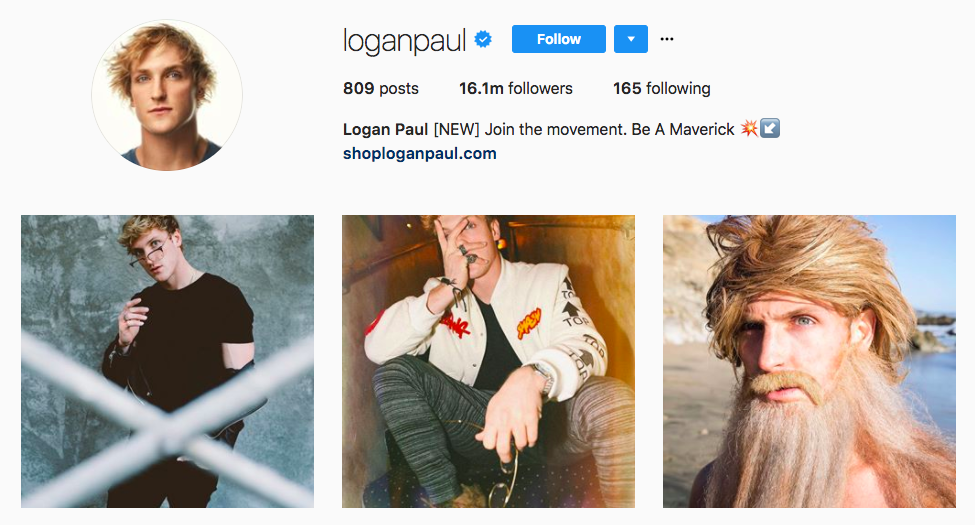 Logan Paul best influencers 2017