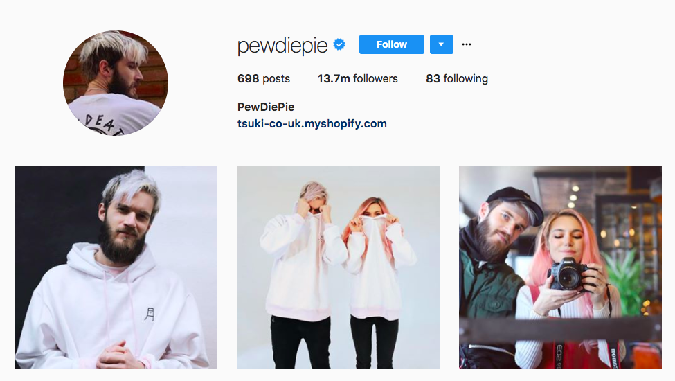 PewDiePie best influencers 2017