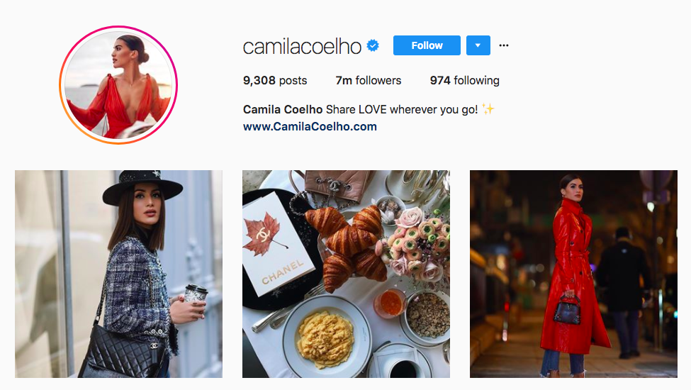 Camila Coelho best influencers 2017