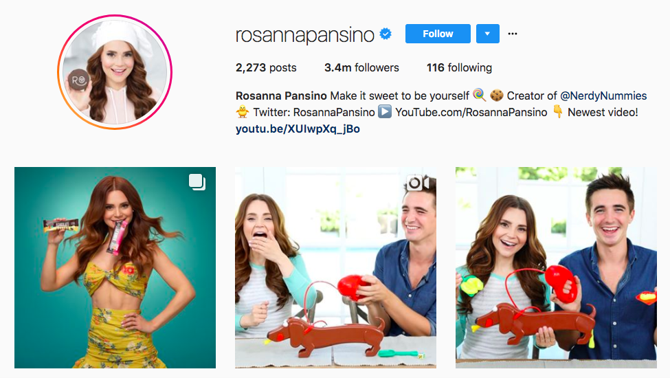 Rosanna Pansino best influencers 2017