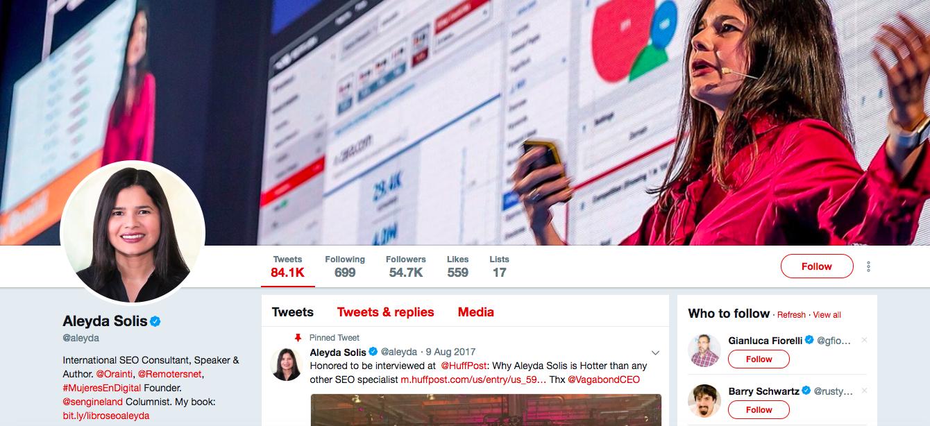 Aleyda Solis digital media influencers