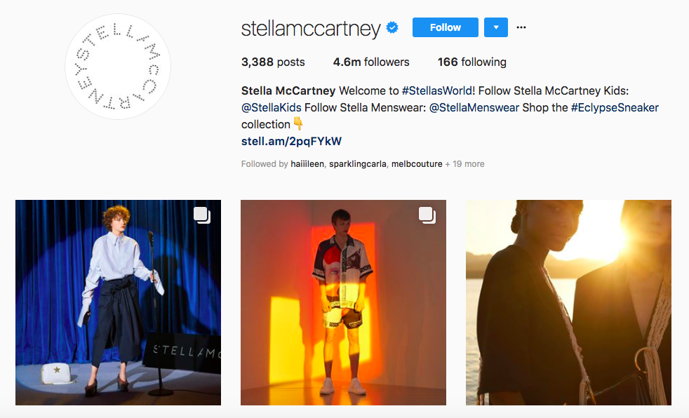 Stell McCartney top female social media influencers
