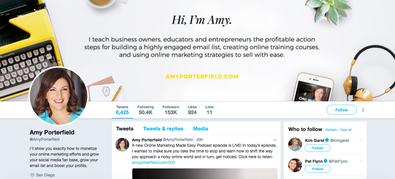 Amy Porterfield digital media influencer