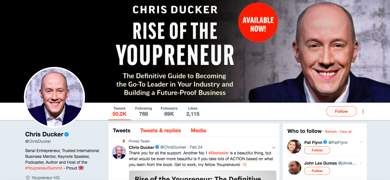 Chris Ducker Top Digital Media Influencers