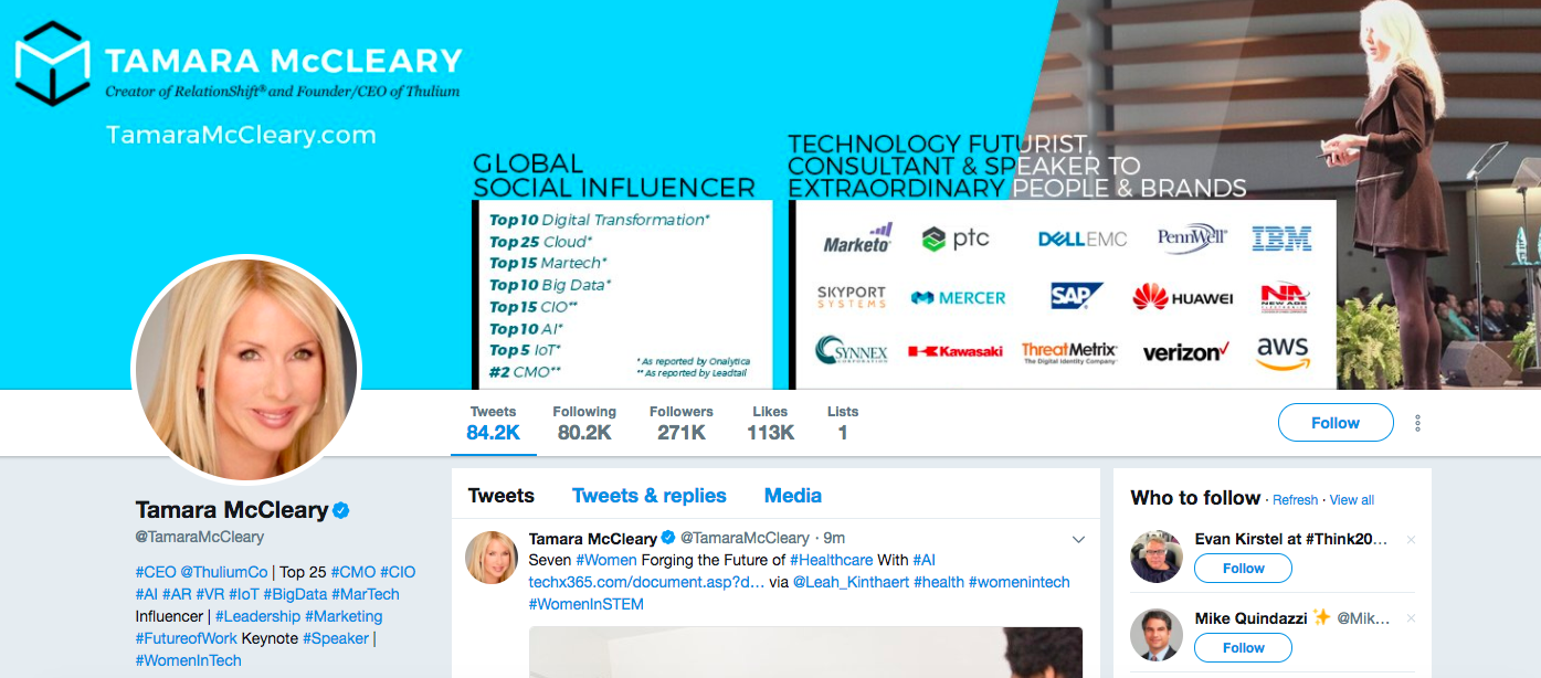 Tamara McCleary Top Digital Media Influencers