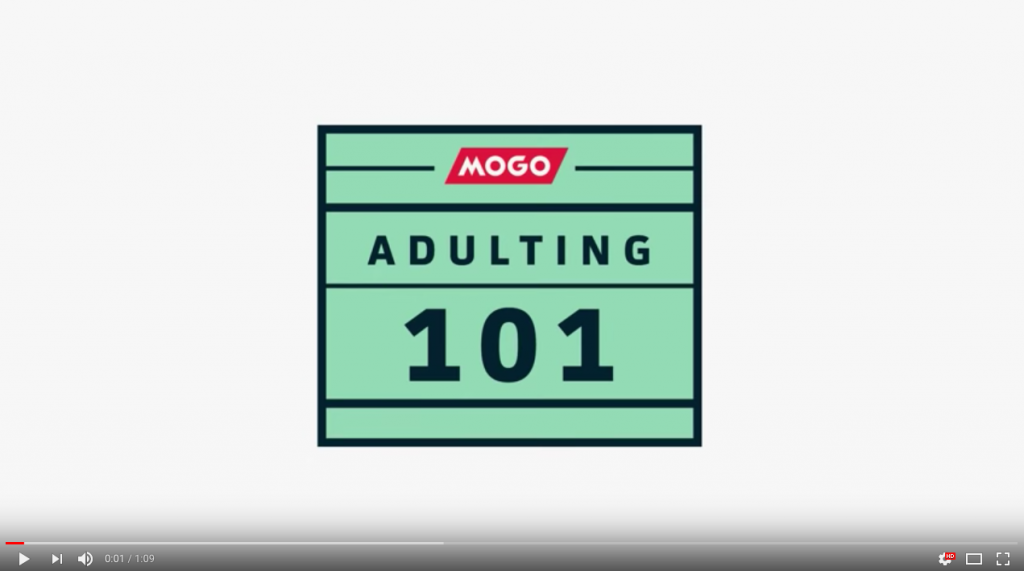 Mogo's Adulting 101 Education Series innovative content marketing